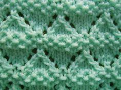 Moss Lace Diamonds knitting stitch.