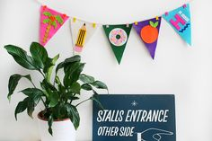 For sale in my online shop - Pennant garland http://shop.kitiyapalaskas.com