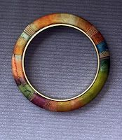 Brass and Polymer Clay Bangle, Lauren Cole Arams