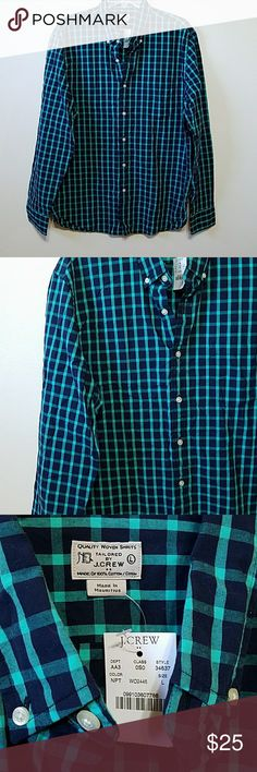 J CREW 100% cotton shirt Practical and classic.  New with tags. J. Crew Shirts Casual Button Down Shirts