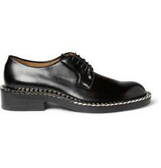 Raf Simons Chain-Trimmed Leather Derby Shoes | MR PORTER