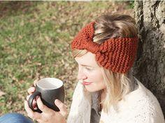 Kitten's Lost Her Mittens: Knit Bow Ear Warmer With Pattern/Tutorial