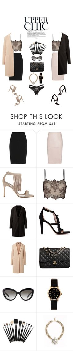 """Untitled #374"" by zoeleoy ❤ liked on Polyvore featuring Lanvin, Reiss, Manolo Blahnik, Antonio Berardi, Chloé, Chanel, Prada, Marc by Marc Jacobs, Leslie Danzis and Honeydew Intimates"