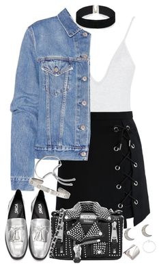 """""""Untitled #1091"""" by manoella-f on Polyvore featuring Chicwish, Acne Studios, Moschino, Monica Vinader, ASOS, Finn, Maria Black and Mies Nobis"""