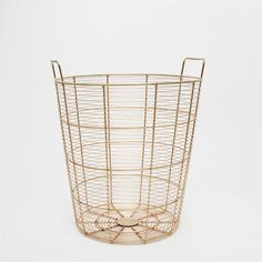 Image of the product Golden metallic large basket