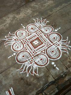 Rangoli Designs Flower, Rangoli Designs Diwali, Kolam Rangoli, Beautiful Rangoli Designs, Simple Rangoli, Colour Rangoli, Desi Video, Padi Kolam, Indian Rangoli