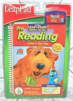 LEAPPAD LEAPFROG BOOK CARTRIDGE READING BEAR IN BIG BLUE HOUSE TUTTERS TINY TRIP #LeapFrog