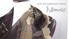Pure silk handmade scarves from Ammentos , Firenze