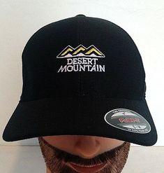 Flexfit Black Desert Mountain Embroidered Baseball hat cap S-M FlexFit.  Desert MountainsBaseball HatsBaseball ... 037b30984232