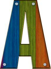 Alfabeto Decorativo: Alfabeto - Madeira 5 - PNG - Letras - Maiúsculas - DOWNLOAD.