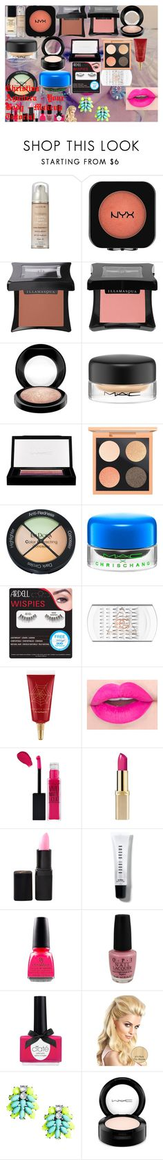 """""""Christina Aguilera - Your Body - Makeup Tutorial"""" by oroartye-1 on Polyvore featuring beauty, Lumière, Neutrogena, Illamasqua, MAC Cosmetics, Isadora, Ardell, Maybelline, L'Oréal Paris and Barry M"""