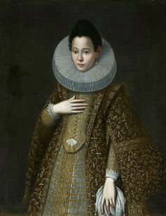 Portrait of a woman in brown dress by Anonymous from Spain, 1610s (PD-art/old), Muzeum Narodowe w Warszawie (MNW)