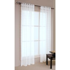 Awesome Boston Concealed Tab Top Sheer Curtains White 120 X 213 Cm | Spotlight  Australia