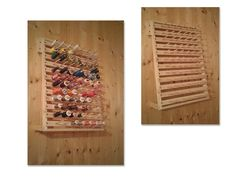 Porte bobines en bois pour l'atelier de couture de ma femme.