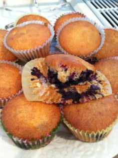 SCD Blueberry Muffins (*Use SCD legal applesauce & substitute coconut oil for olive oil...)