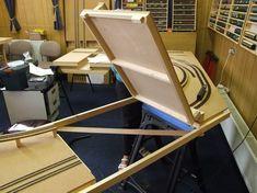 The flap door under construction