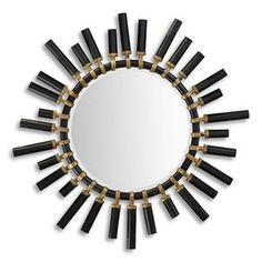 black lacquer and gold mirror from Christopher Guy. retro wedding registry inspiration!