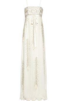 Matthew Williamson Embellished silk-chiffon gown   THE OUTNET