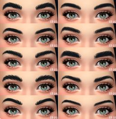 Sims 4 Cc Eyes, Sims 4 Mm Cc, Sims 4 Body Mods, Sims Mods, Sims Traits, Asian Eyebrows, Straight Eyebrows, The Sims 4 Skin, The Sims 4 Packs