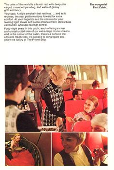 a9c5e795bb United Airlines B747 introduction brochure First Class Cabin 1970 United  Airlines