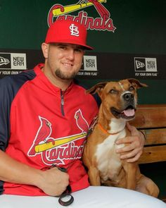 Matt Adams, greatest addition to the Cardinals EVER!!! my fave by far and that puppers is precious!