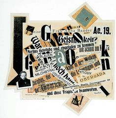 Johannes Baader, Homage to Gutenberg, 1919