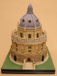 it's a cake. really.  Oxford University's world famous library, the Radcliffe Camera.  It takes bakers at The Cake Shop in Oxford  80 hours to make and assemble.