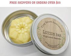 Heather lotion, solid lotion, hydrating lotion, sleep mask, scented lotion, flower lotion, makeup remover, moisturizing lotion, tiny house