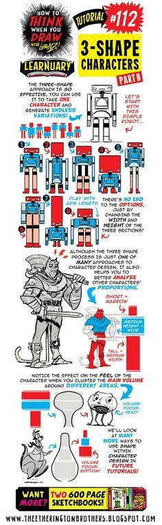 #112 3-Shape Characters B