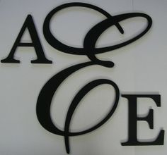 looking for best letters for nursery wall monogram