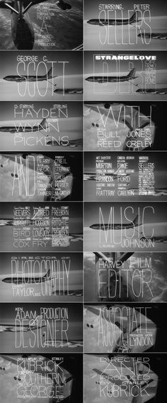Title design by Pablo Ferro for 'Dr. Strangelove or: how i learned to stop worrying and love the bomb.' (1964)