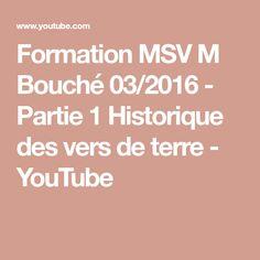 Formation MSV M Bouché 03/2016 - Partie 1 Historique des vers de terre - YouTube