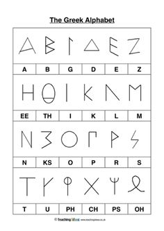 Use this worksheet to teach your children about the Greek Alphabet. Ancient Greece Crafts, Ancient Greece For Kids, Ancient Greece Lessons, Greek Language, Italian Language, Korean Language, Japanese Language, Spanish Language, French Language