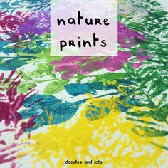 Nature Prints from Doodles and Jots. Just use hedge clippings and other gathered plant materials to do this art project. Summer Art Projects, School Art Projects, Summer Crafts, Kids Crafts, School Ideas, Summer Activities For Kids, Art Activities, Stem School, Kindergarten Art Lessons