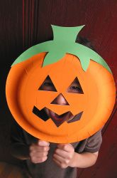 Kindergarten Paper & Glue Crafts Activities: Jack O' Lantern Mask