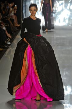 For this dress I will walk around with my hand up my skirt. Chado Ralph Rucci Spring 2013