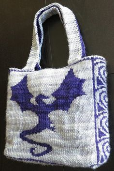Knitting pattern for Dragonflight Tote Bag