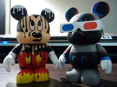 Disney Vinylmation Urban Series 4 Chaser Paint Drip Mickey and 3-D Mickey