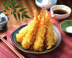 Gamberi in tempura croccanti