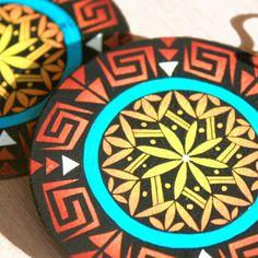 Basket Weaver Earrings by Michelle Lowden (Acoma)