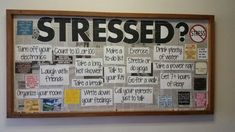Stress tips bulletin board - Esare Poyna Counselor Bulletin Boards, Nurse Bulletin Board, Health Bulletin Boards, College Bulletin Boards, Interactive Bulletin Boards, Newspaper Bulletin Board, Interactive Walls, High School Counseling, School Social Work
