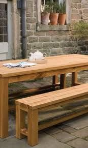 Image result for oak outdoor tables