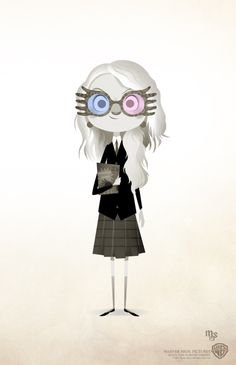 The cutest little illustration of Luna Lovegood that I've seen yet!