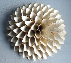 Paper wreath Paper Flower Upcycled Book Pages Large by NodakMama, $55.00