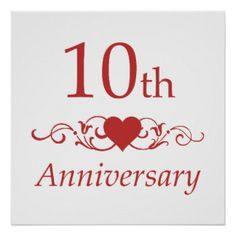 10th Wedding Anniversary wishes, quotes, messages