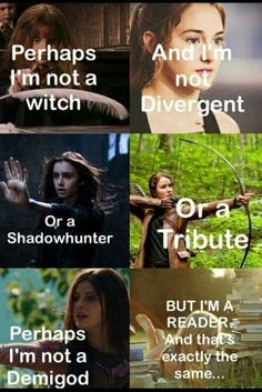 Harry Potter, Divergent, Mortal Instruments, Hunger Games and Percy Jackson Movie Quotes, Book Quotes, I Love Books, Books To Read, Heros Film, Citations Film, Fandom Quotes, Book Memes, Lectures