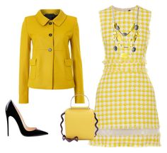 Minimal yellow spring outfit by cristina-barberis on Polyvore featuring moda, MSGM, Oui, Roksanda and Kenneth Cole
