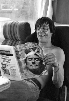 Iggy Pop. even when missing a tooth he has an adorable smile lol