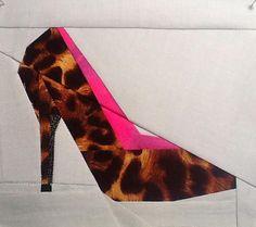 "High heel"" paper pieced pattern Pattern"