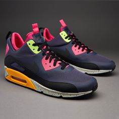 watch 76969 6dcf9 Outlet Nike Sportswear Air Max 90 Mid NS SneakerBoot - Gridiron Black Pink  Force